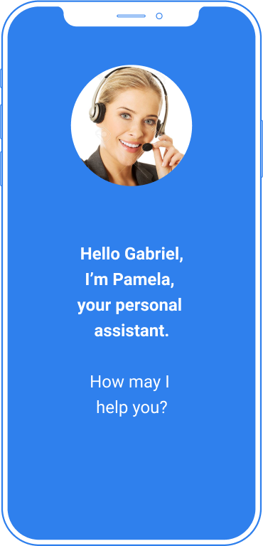 Image of smartphone with Pamela application